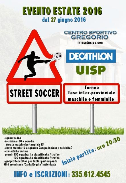 Locandina street soccer