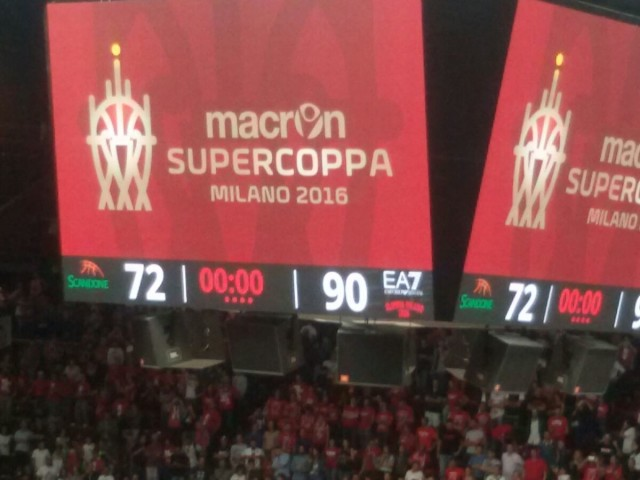 finale supercoppa  basket