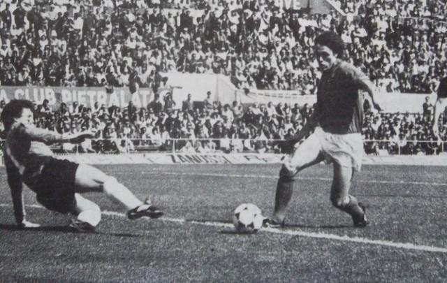 Gol di Edi Bivi a Roma. Uno dei due gol realizzati
