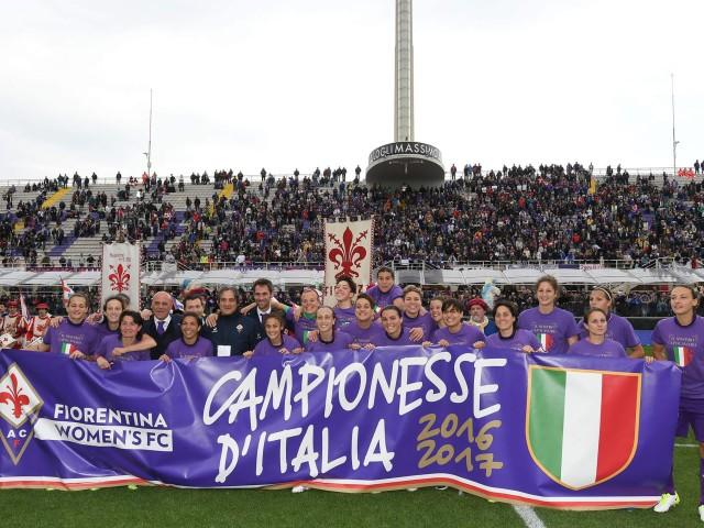 FIORENTINA FEMMINILE CAMPIONE D'ITALIA