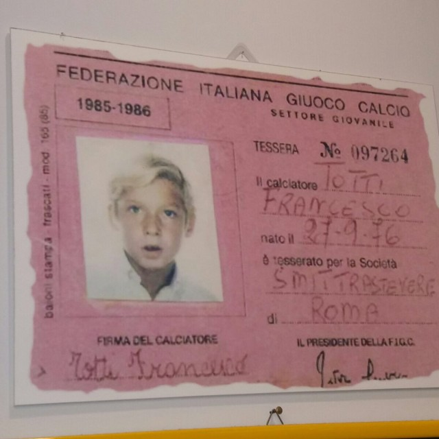 tessera figc di Francesco Totti